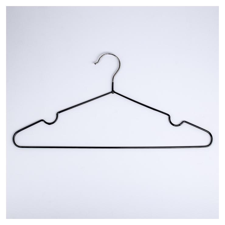 Вешалка-плечики для одежды доляна, размер 40-44, антискользящее покрытие, цвет чёрный  Доляна