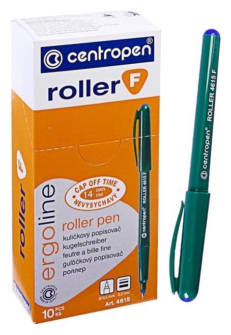 Ручка-роллер Centropen 4615, линия 0,3 мм, синий невысыхаемый, длина линии письма - 2200 м  Centropen