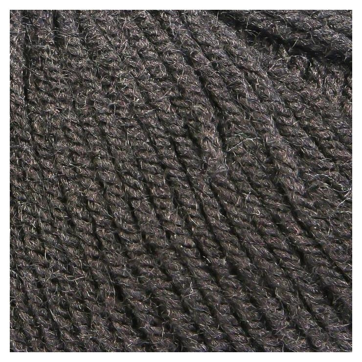 Пряжа Карамелька 100% акрил 175м/50гр (003 черный) Камтекс