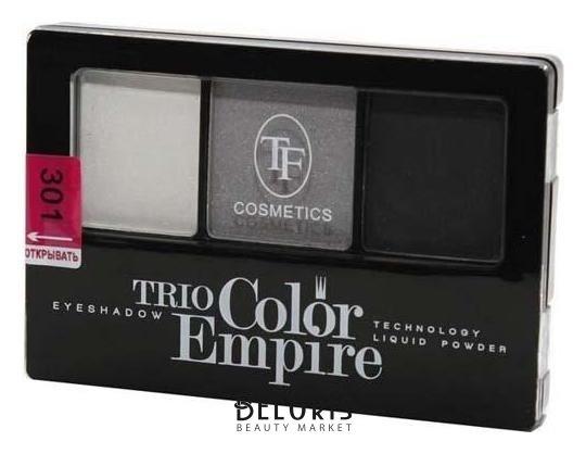 Купить Тени для век Триумф, Тени для век тройные Trio Color Empire , Китай, Тон 301 (серый жемчуг)