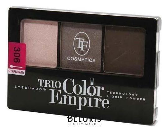 Купить Тени для век Триумф, Тени для век тройные Trio Color Empire , Китай, Тон 306 (лесной орех)