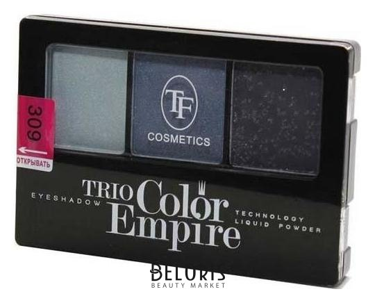 Купить Тени для век Триумф, Тени для век тройные Trio Color Empire , Китай, Тон 309 (Морской бриз)