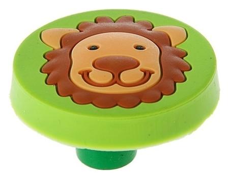 Ручка кнопка детская KID 016, Львенок, резиновая NNB