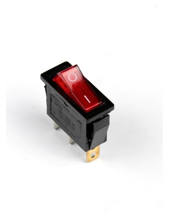 Кнопка - выключатель, прямоугольный, с подсветкой  NNB
