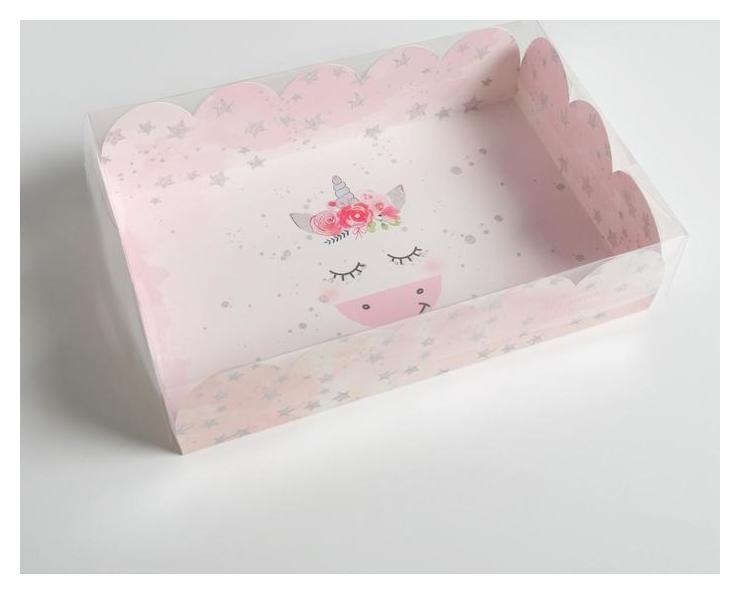 Коробка подарочная с Pvc-крышкой «Чудесных мгновений», 20 × 30 × 8 см Дарите счастье