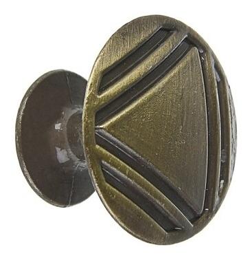 Ручка кнопка рк014ab, цвет бронза  NNB