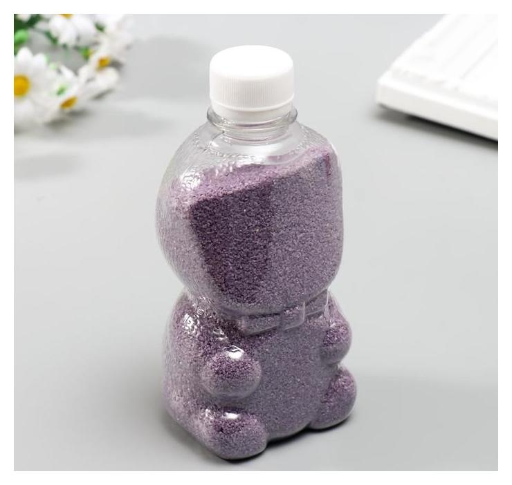 Песок цветной в бутылках Фиолетовый 500 гр NNB