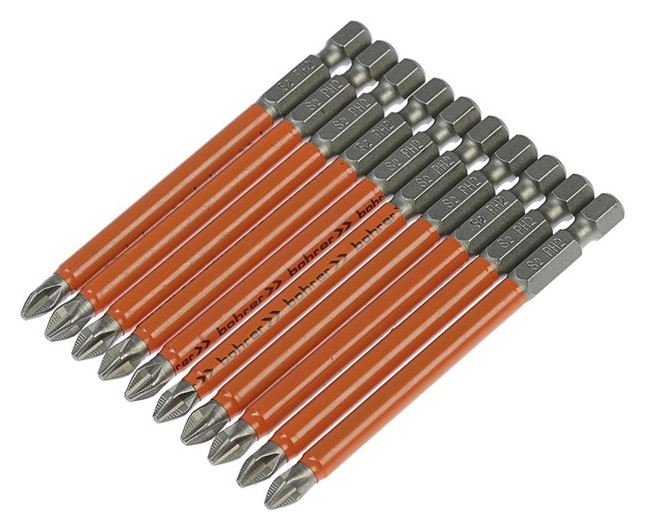 Бита Bohrer Taiwan Type, PH2 X 90 мм, сталь S2, намагниченная  Bohrer