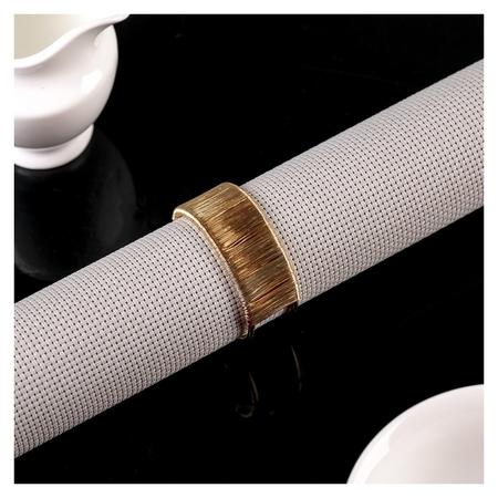 Кольцо для салфеток «Аврора», D=5 см, цвет золотой  NNB