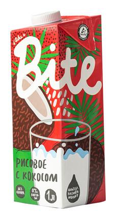 Напиток Рисовый с кокосом пастеризованный BioFoodLab Bite