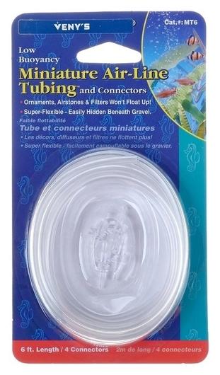 Шланг аквариумный улучшенный, 2 м, диаметр 6/4 см, с 4 прозрачными соединителями  КНР