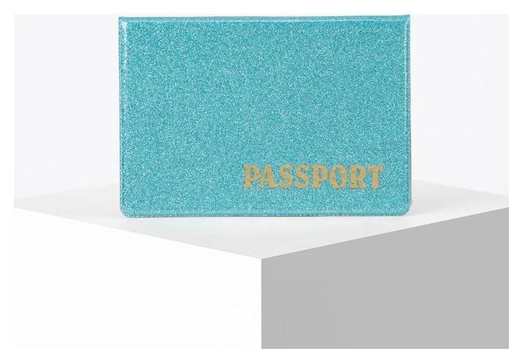 Обложка для паспорта горизонтальная, латинские буквы, цвет синий NNB