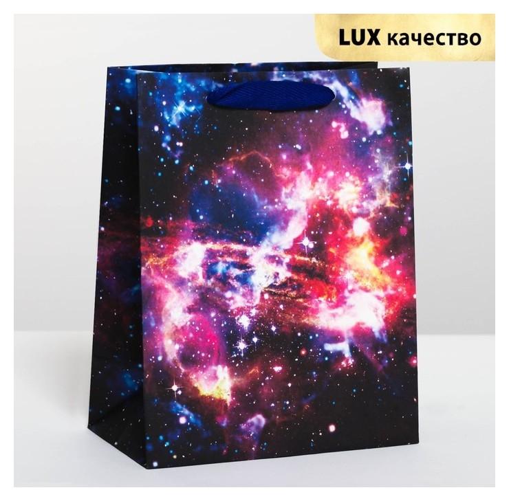 Пакет подарочный вертикальный «Космос», MS 18 х 23 × 10 см Дарите счастье