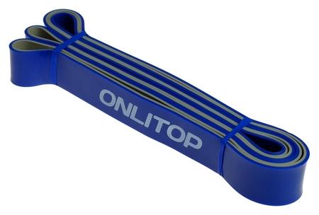 Эспандер ленточный, многофункциональный, 208 х 3,2 х 0,45 см, 15-40 кг, цвет синий/чёрный  Onlitop