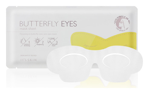Увлажняющая маска для глаз Бабочка Beautyfly eyes mask sheet It's Skin