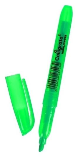 Маркер-текстовыделитель скошенный 5 мм, зелёный Calligrata