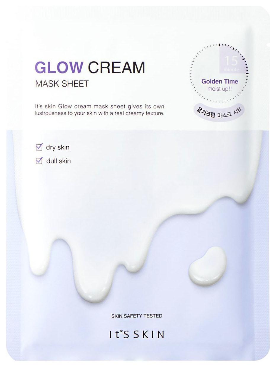 Увлажняющая тканевая маска с кремом Glow Cream Mask Sheet It's Skin