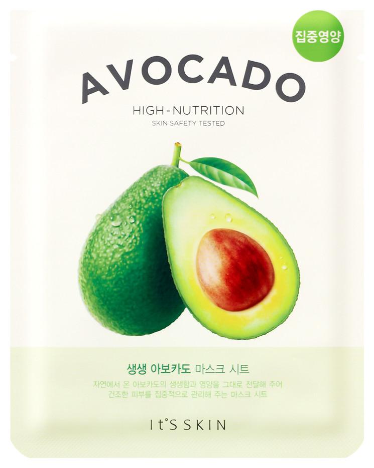 "Смягчающая тканевая маска ""The Fresh Avocado Mask Sheet"" авокадо  It's Skin"