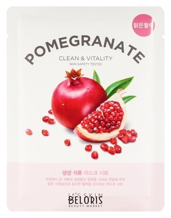 Купить Маска для лица It's Skin, Укрепляющая тканевая маска The Fresh Pomegrante Mask Sheet гранат, Южная Корея