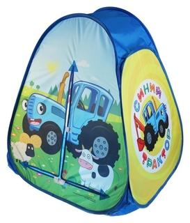 Палатка игровая «Синий трактор» в сумке, 81 × 90 × 81 см