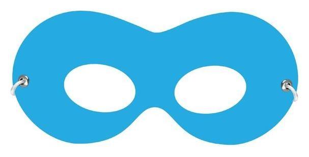 Маска на резинке, картон, цвет голубой NNB