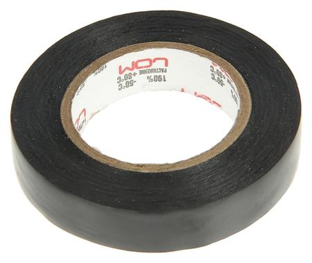 Изолента Lom, пвх, 15 мм х 14 м, 130 мкм, черная  LOM
