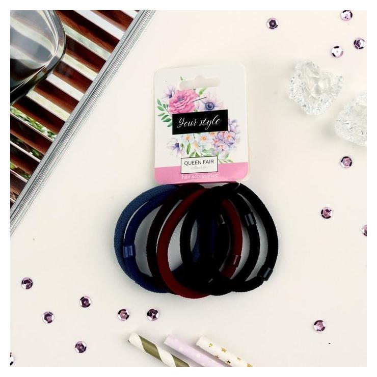 Резинка для волос Классика набор 6 шт., цветные Queen fair