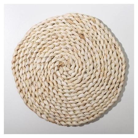 Салфетка-подставка под горячее доляна «Косичка», плетёная, D=25 см Доляна