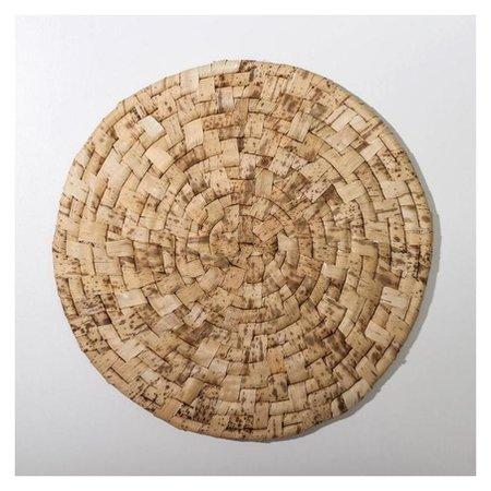 Салфетка плетёная доляна «Песок», D=25 см Доляна