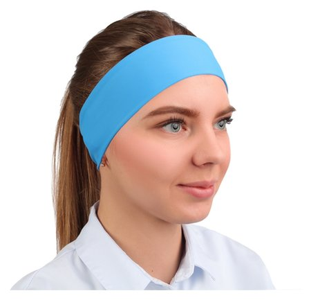 Повязка на голову, бифлекс, цвет бирюзовый  NNB