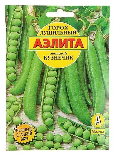 Семена горох Кузнечик, лущильный, 25 г Аэлита