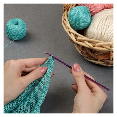Крючок для вязания, D = 3,5 мм, 15 см  Арт узор