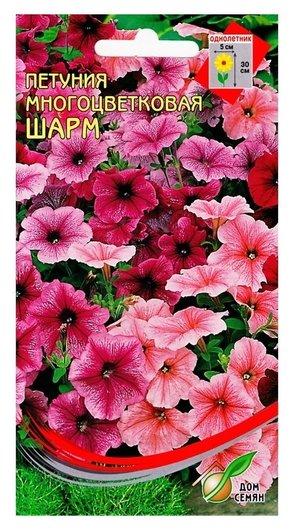 """Семена цветов петуния многоцветковая """"Шарм"""" Дом семян, О, 230 шт  Сортсемовощ"""