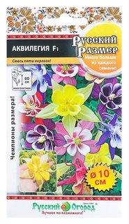 Семена цветов аквилегия серия русский размер F1 смесь, Мн, 5 шт  Русский огород