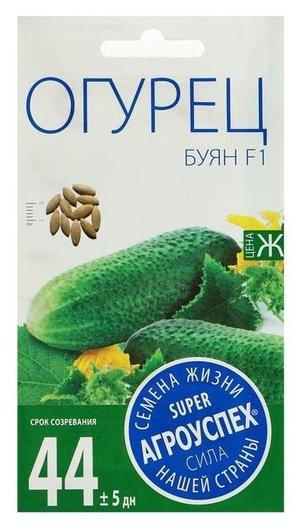 Семена огурец буян F1, партенокарпический, 10 шт  Агроуспех