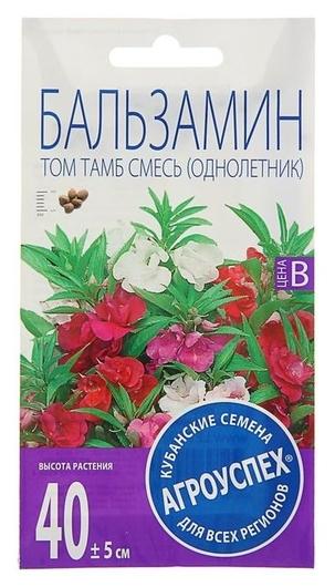 Семена цветов бальзамин Том тамб, смесь, О, 0,3г Агроуспех