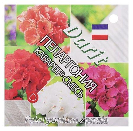 """Семена цветов пеларгония """"Кабарет"""" F2 смесь, Мн, Darit 4 шт  Агроуспех"""