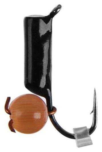 Мормышка вольфрам «Кошачий глаз» 0,58 г, подвес D2 оранжевый  Premier fishing