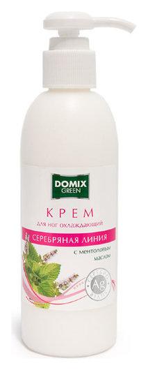 Крем охлаждающий для ног с ментоловым маслом и наносеребром  Domix Green Professional