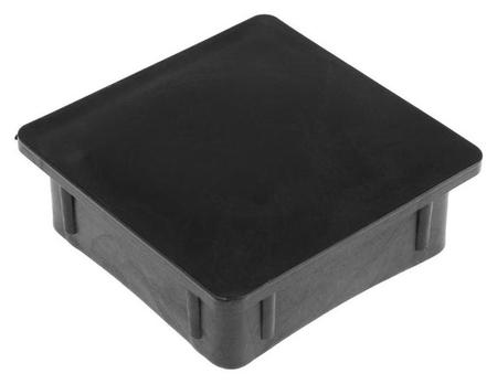 Заглушка Tundra внутренняя 80×80, черная Tundra