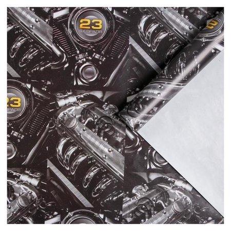 Бумага упаковочная глянцевая «Моторы», 70 × 100 см Дарите счастье