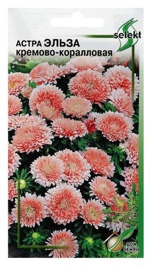 """Семена цветов астра """"Эльза"""", кремово-коралловая, 45 шт  Сортсемовощ"""