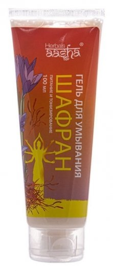 Гель для умывания Шафран Питание и тонизирование  Aasha Herbals