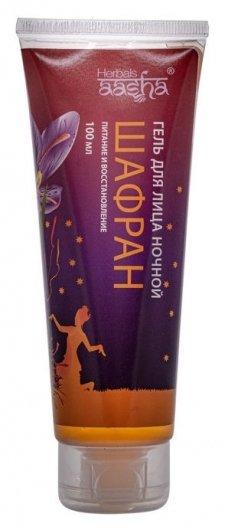 Гель для лица ночной Шафран Питание и восстановление  Aasha Herbals