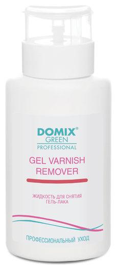 Жидкость для снятия гель-лака шеллака Gel varnish remover с помпой Domix Green Professional