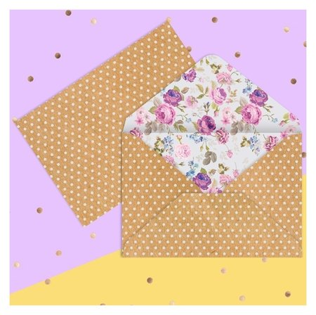Конверт для денег «Цветы», 16 × 11 см  Дарите счастье