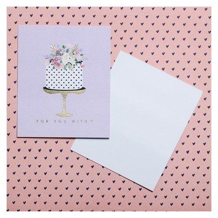 Открытка на акварельном картоне с тиснением For You With Love, 8,8 х 10,7 см Дарите счастье