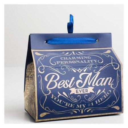 Упаковка для кондитерских изделий Bast Man, 10 × 18 × 15 см  Дарите счастье