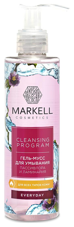 Гель-мусс для умывания Пассифлора и ламинария Markell Everyday