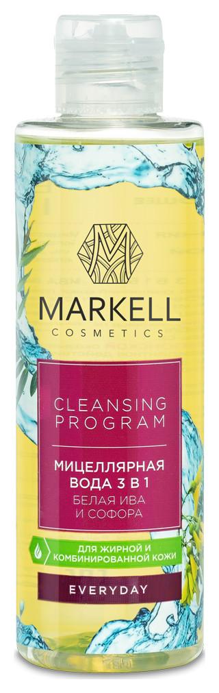 Мицеллярная вода 3 в 1 Белая ива и софора для жирной кожи Markell Everyday